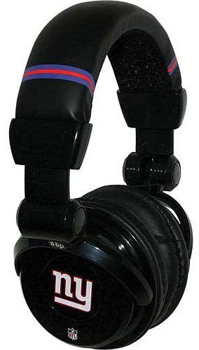 ecc60874 iHip NFH26NYG NFL New York Giants DJ Headphone w/In-Line Mic/Volume ...