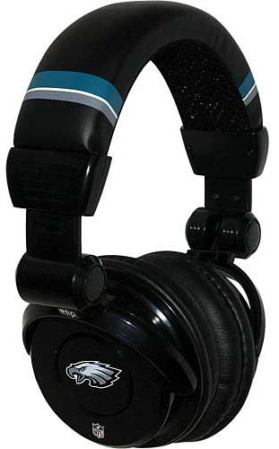 Ihip Nfh26phe Nfl Philadelphia Eagles Dj Headphone W In Line Mic 6cdbef648